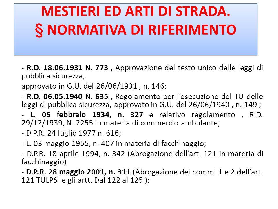 Bibliografia IL COMMERCIO SU AREA PUBBLICA IN FORMA ITINERANTE M. BOMBI