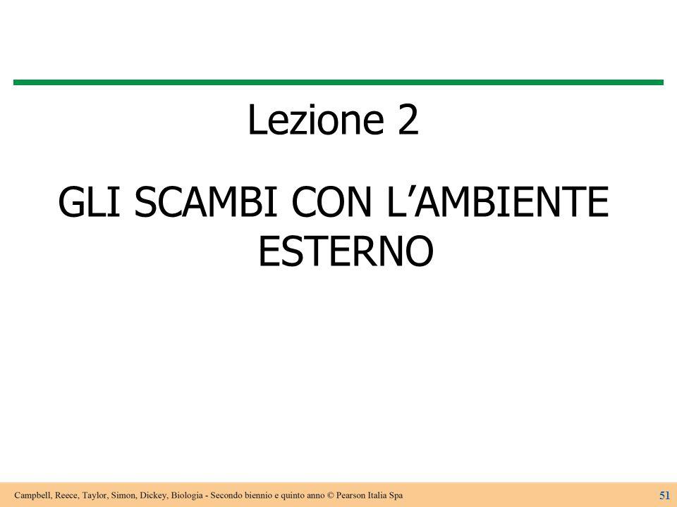 Lezione 2 GLI SCAMBI CON L'AMBIENTE ESTERNO 51