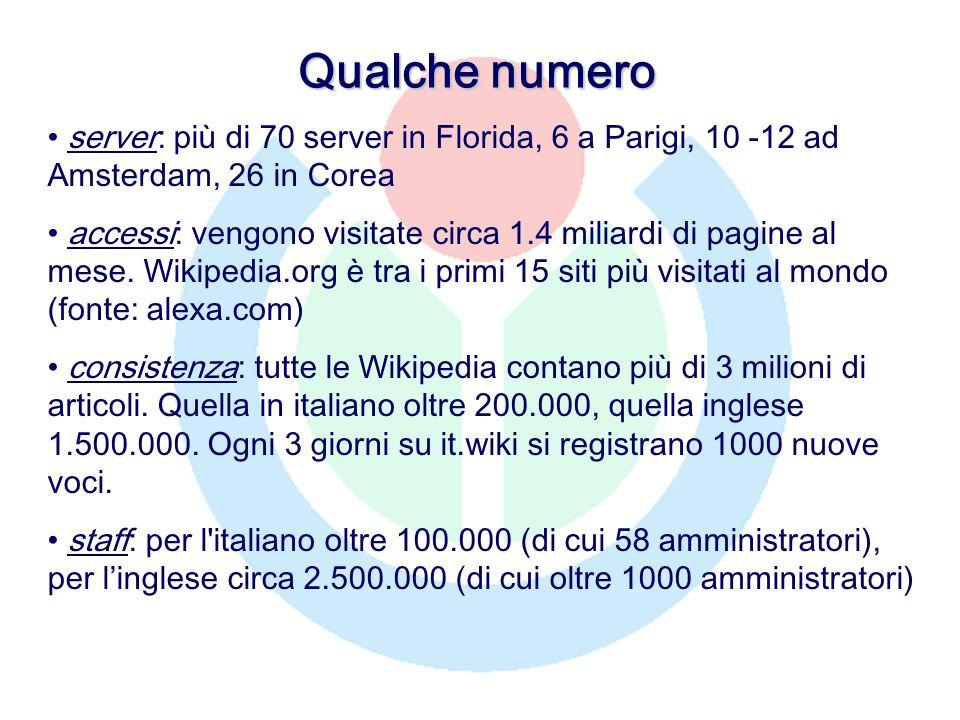 Qualche numero server: più di 70 server in Florida, 6 a Parigi, 10 -12 ad Amsterdam, 26 in Corea accessi: vengono visitate circa 1.4 miliardi di pagine al mese.