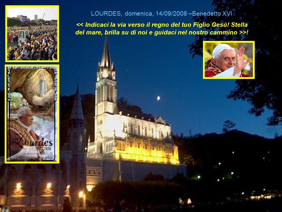 Cari fratelli e sorelle malati, vorrei stringervi nelle mie braccia, uno a uno, in modo affettuoso e dirvi quanto sono vicino a voi e solidale con voi. 1983 – Giovanni Paolo II Prima visita a Lourdes Giovanni Paolo II, seconda visita a Lourdes, sabato 14 agosto 2004