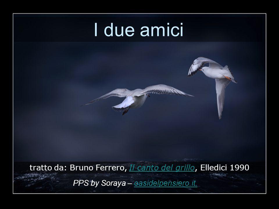 I due amici tratto da: Bruno Ferrero, Il canto del grillo, Elledici 1990Il canto del grillo PPS by Soraya – oasidelpensiero.it.oasidelpensiero.it.