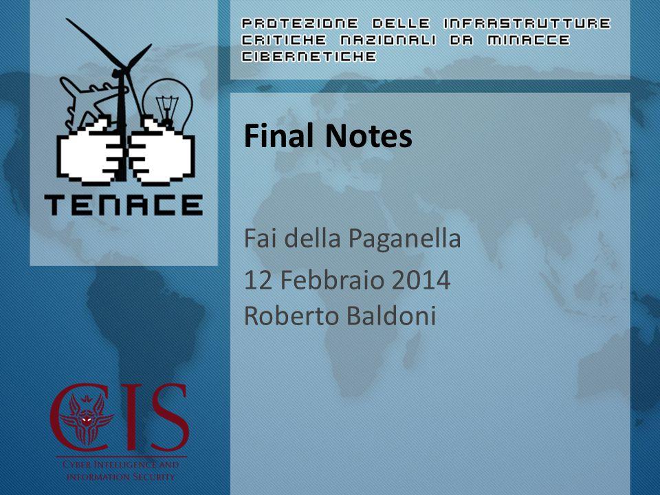Final Notes Fai della Paganella 12 Febbraio 2014 Roberto Baldoni