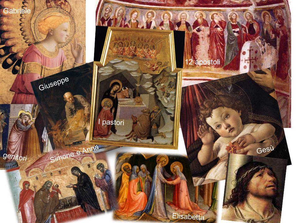 I pastori Elisabetta Simone e Anna Gesù Giuseppe Gabriele 12 apostoli genitori