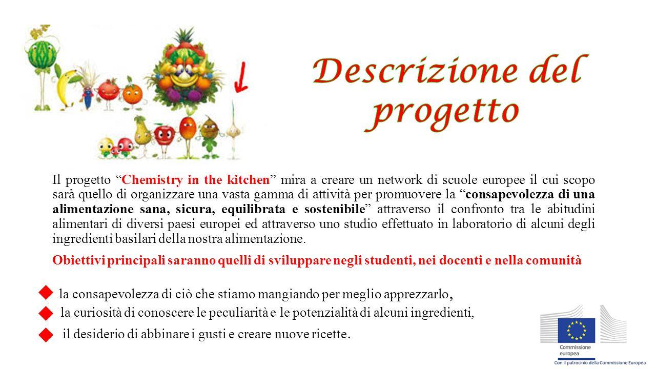 """Il progetto """"Chemistry in the kitchen"""" mira a creare un network di scuole europee il cui scopo sarà quello di organizzare una vasta gamma di attività"""