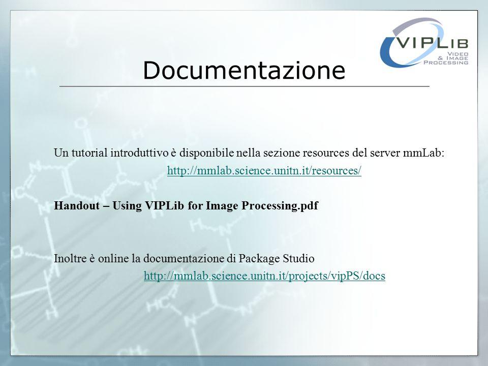 Flusso Dati Implementazione di vipInput I dati vengono acquisiti da un driver o una libreria esterna, convertiti nello standard di VIPLib e indirizzati in uscita quando richiesto.
