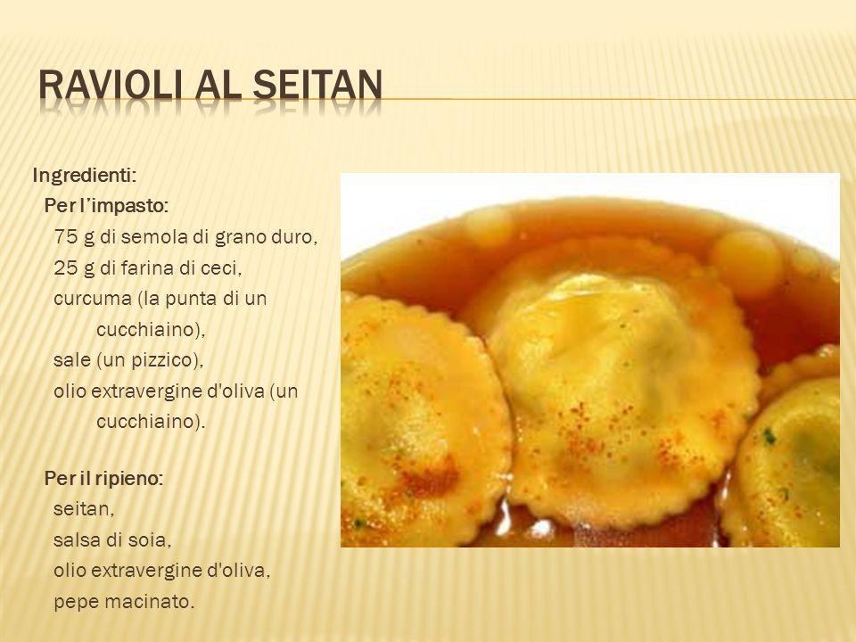 Ingredienti: Per l'impasto: 75 g di semola di grano duro, 25 g di farina di ceci, curcuma (la punta di un cucchiaino), sale (un pizzico), olio extrave