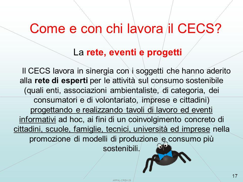 ARPAL-CREA 09 17 Come e con chi lavora il CECS.
