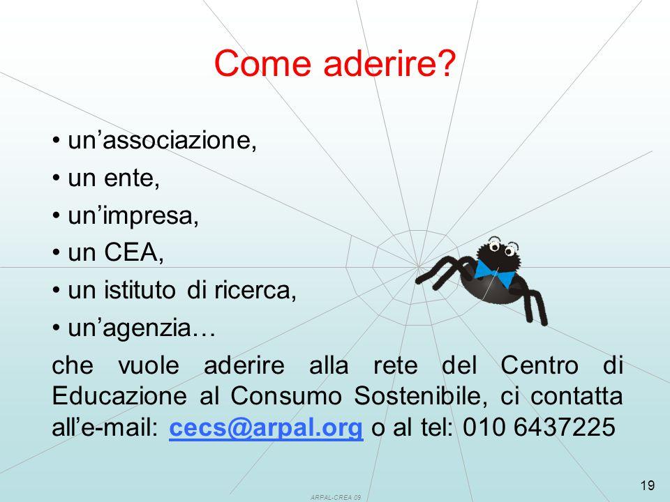 ARPAL-CREA 09 19 Come aderire.