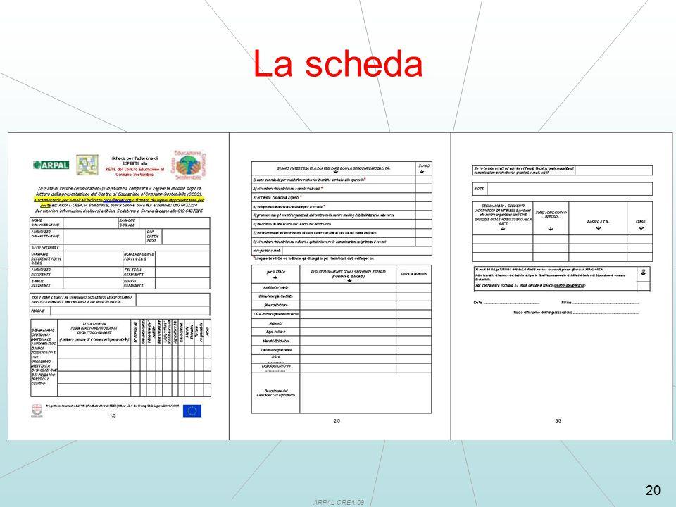 ARPAL-CREA 09 20 La scheda