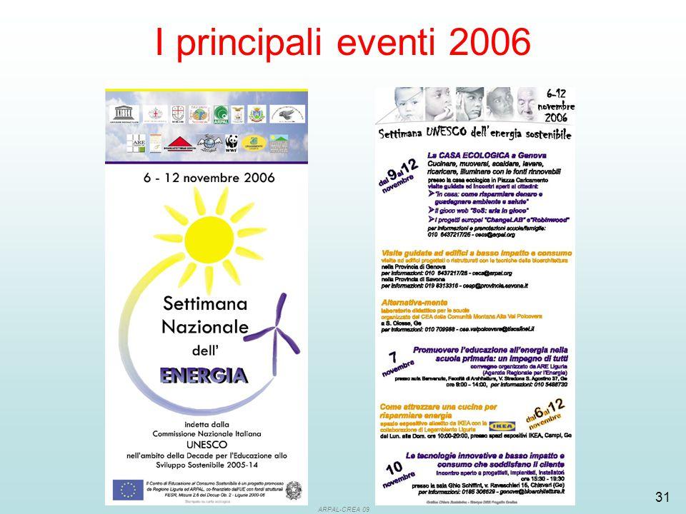 ARPAL-CREA 09 31 I principali eventi 2006