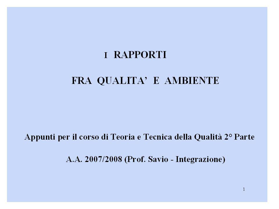 Art.5 - Individuazione e perseguimento dell obiettivo di qualità ambientale.
