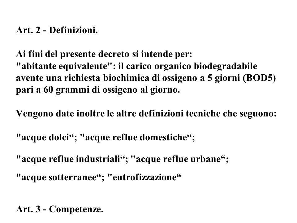 Art. 2 - Definizioni. Ai fini del presente decreto si intende per: