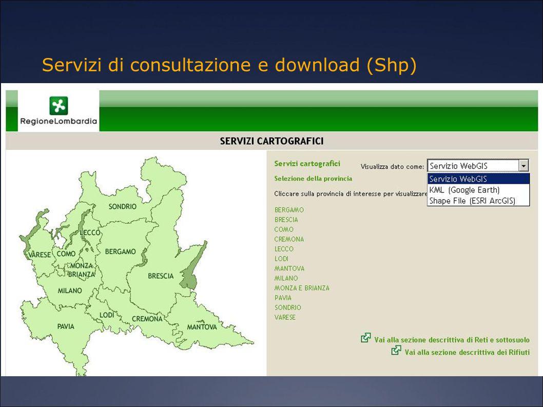 Servizi di consultazione e download (Shp)