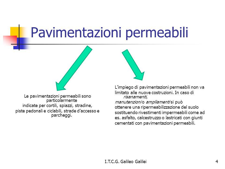 Pavimentazioni permeabili Le pavimentazioni permeabili sono particolarmente indicate per cortili, spiazzi, stradine, piste pedonali e ciclabili, strad