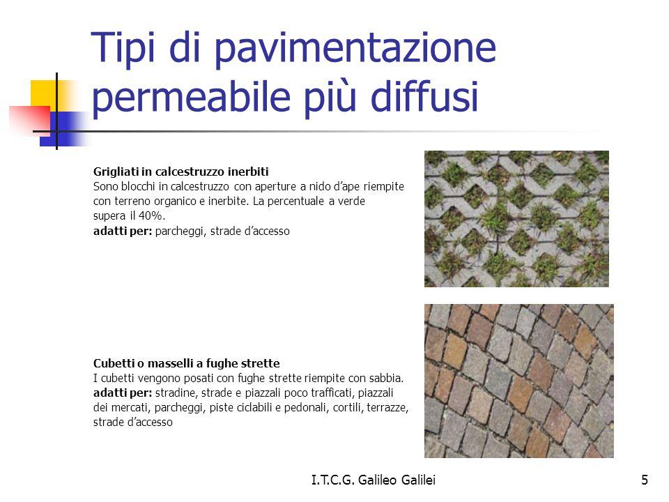 Tipi di pavimentazione permeabile più diffusi Grigliati in calcestruzzo inerbiti Sono blocchi in calcestruzzo con aperture a nido d'ape riempite con t
