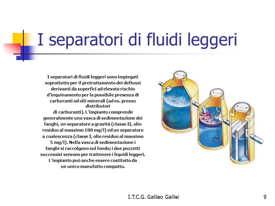 I separatori di fluidi leggeri I separatori di fluidi leggeri sono impiegati soprattutto per il pretrattamento dei deflussi derivanti da superfici ad
