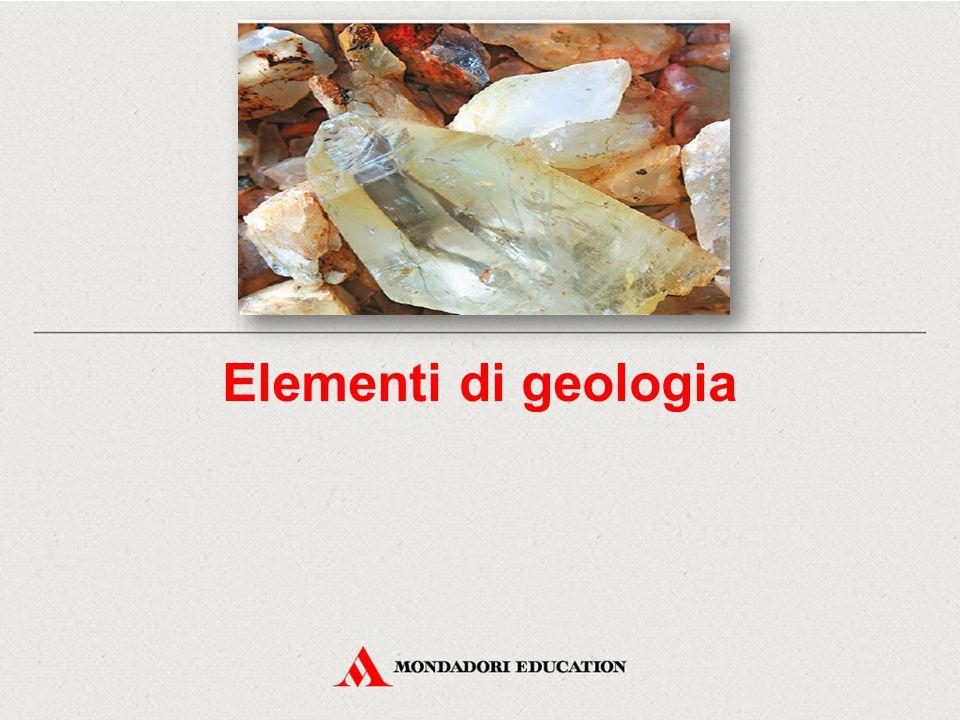 Elementi di geologia I minerali sono classificati – a livello scientifico – attraverso l'uso di complessi strumenti di analisi, ma anche di parametri di più facile misurazione: il colore; la lucentezza (cioè la proprietà di riflettere la luce); la densità (cioè il rapporto tra la massa e il volume del minerale); la durezza (cioè la resistenza che un materiale solido oppone alla penetrazione da parte di un altro materiale solido).