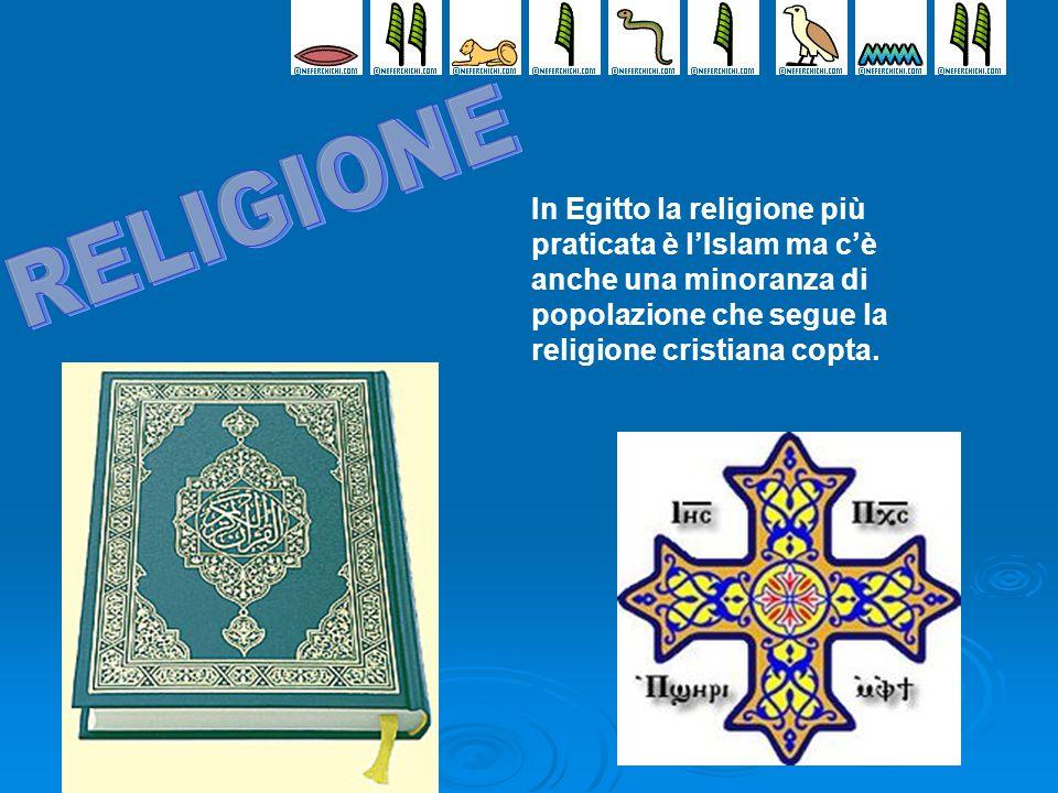 In Egitto la religione più praticata è l'Islam ma c'è anche una minoranza di popolazione che segue la religione cristiana copta.