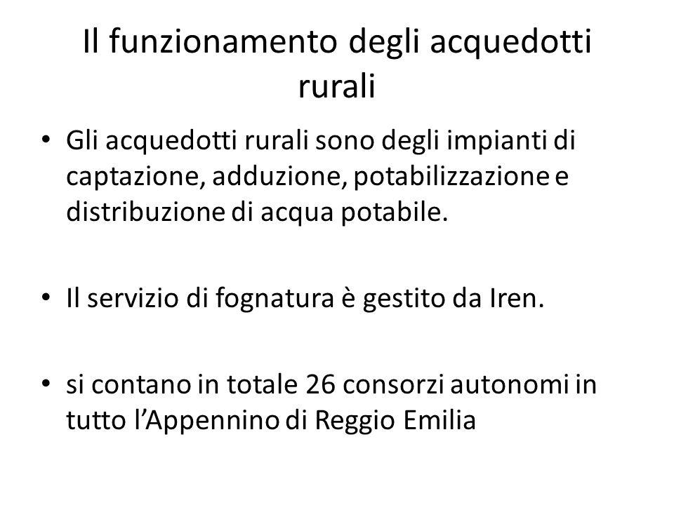 Il funzionamento degli acquedotti rurali Gli acquedotti rurali sono degli impianti di captazione, adduzione, potabilizzazione e distribuzione di acqua potabile.