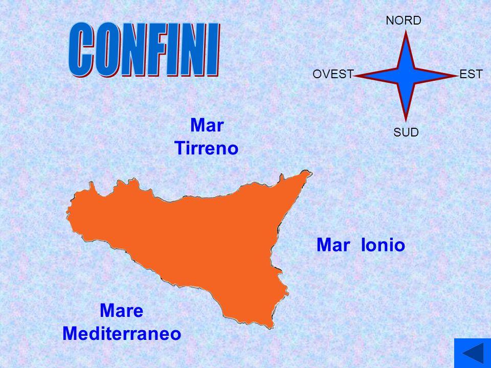 Mar Tirreno Mare Mediterraneo Mar Ionio NORD EST SUD OVEST
