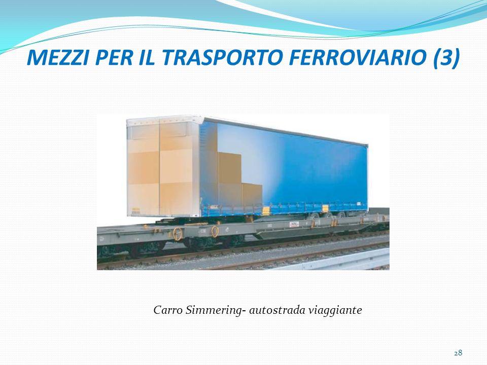 MEZZI PER IL TRASPORTO FERROVIARIO (3) Carro Simmering- autostrada viaggiante 28