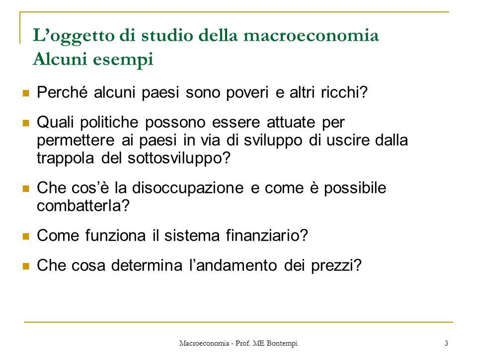 Macroeconomia - Prof.ME Bontempi 4 Chi emette moneta e da cosa dipende l'inflazione.