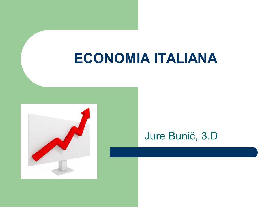 Introduzione Attualmente l economia italiana è classificata come la settima al mondo per prodotto interno lordo, la quinta per commercio con l estero e l ottava a parità di potere d acquisto.