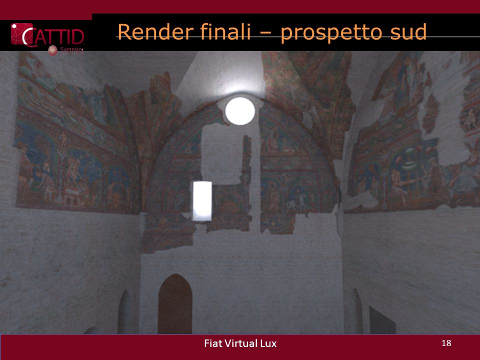 Render finali – prospetto sud 18 Fiat Virtual Lux 18 Fiat Virtual Lux 18 Fiat Virtual Lux