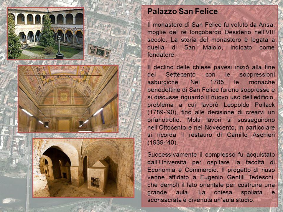 Palazzo San Felice Il monastero di San Felice fu voluto da Ansa, moglie del re longobardo Desiderio nell'VIII secolo. La storia del monastero è legata