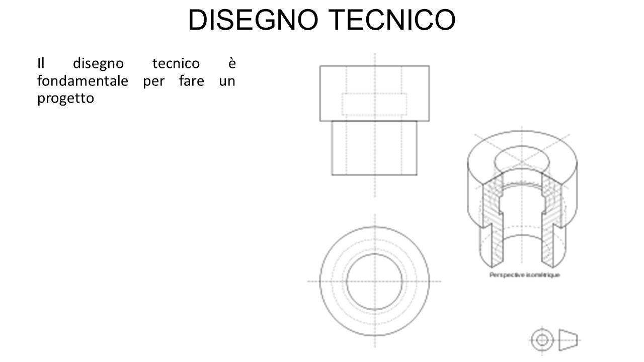 DISEGNO TECNICO Il disegno tecnico è fondamentale per fare un progetto