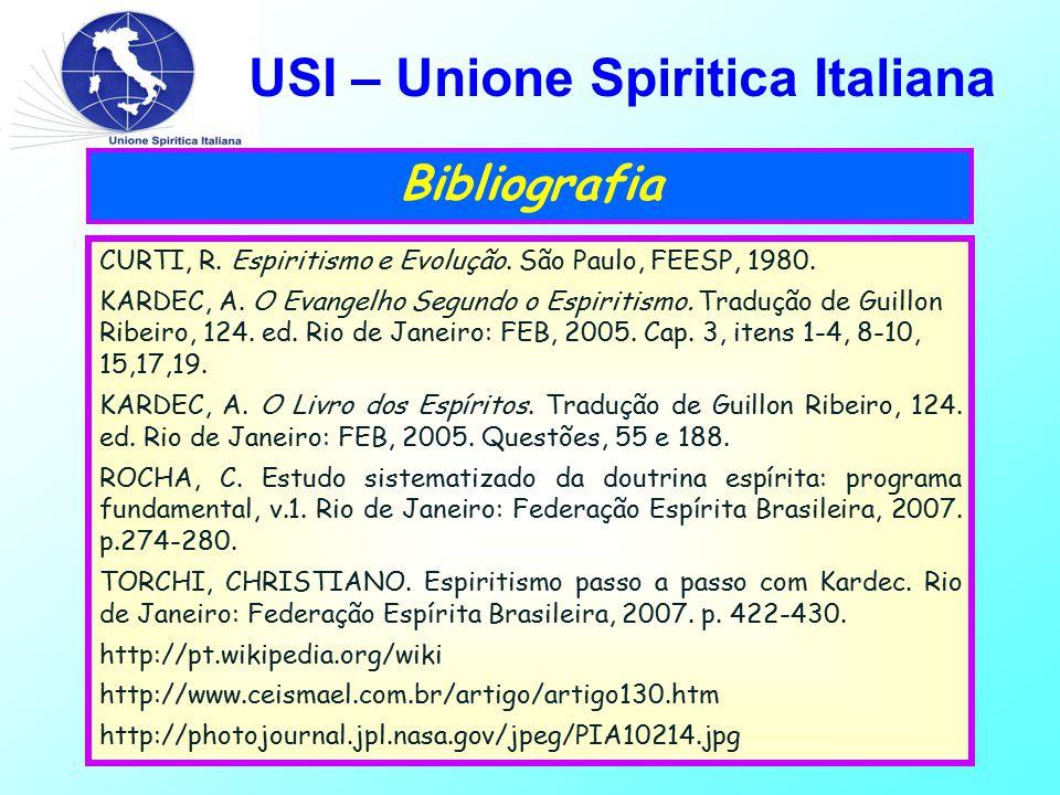 USI – Unione Spiritica Italiana Bibliografia CURTI, R.