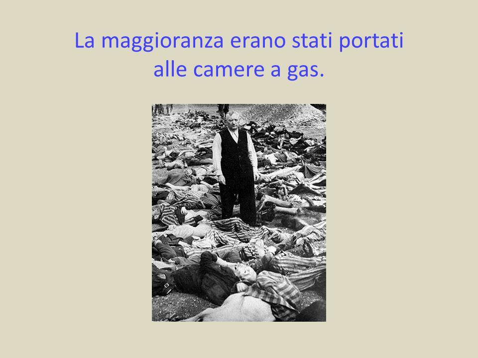 La maggioranza erano stati portati alle camere a gas.