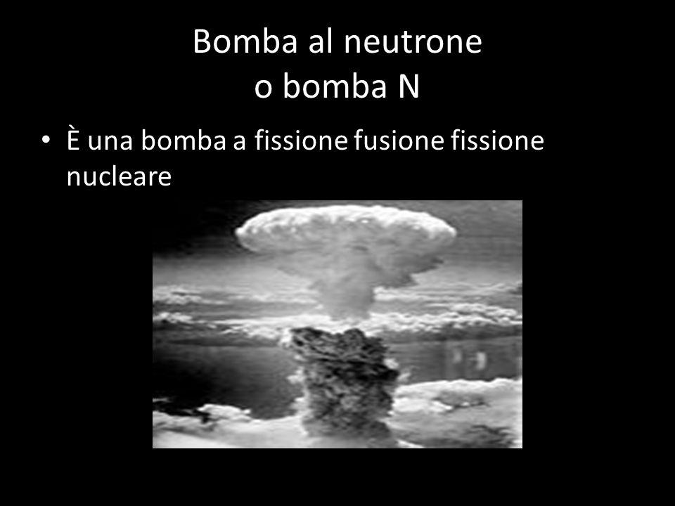 Bomba al cobalto o bomba gamma o bomba G I neutroni al momento dell'esplosione si uniscono al cobalto