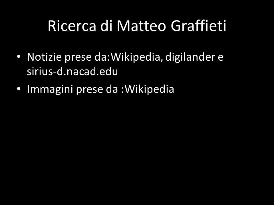 Ricerca di Matteo Graffieti Notizie prese da:Wikipedia, digilander e sirius-d.nacad.edu Immagini prese da :Wikipedia