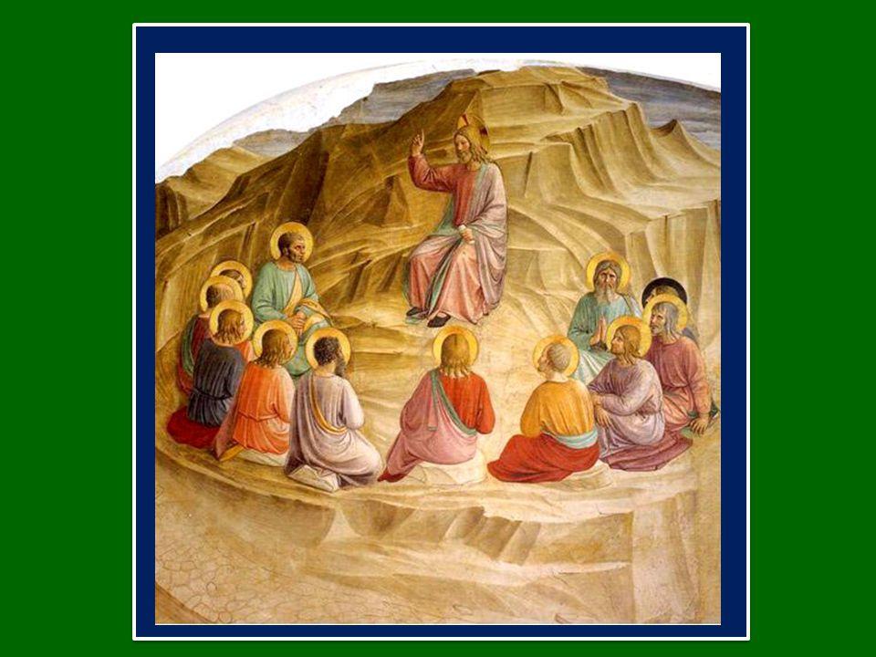Invita i discepoli ad ascoltare le sue parole e a metterle in pratica (cfr Mt 7,24).