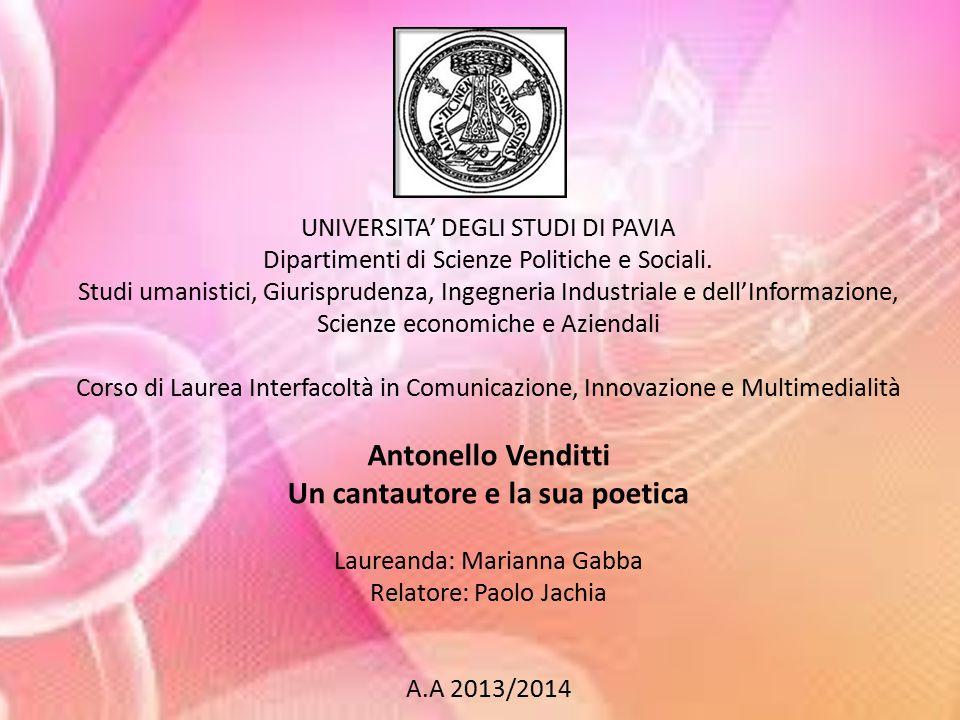 UNIVERSITA' DEGLI STUDI DI PAVIA Dipartimenti di Scienze Politiche e Sociali.