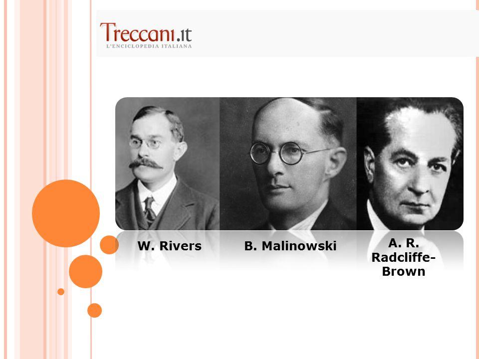 W. RiversB. Malinowski A. R. Radcliffe- Brown