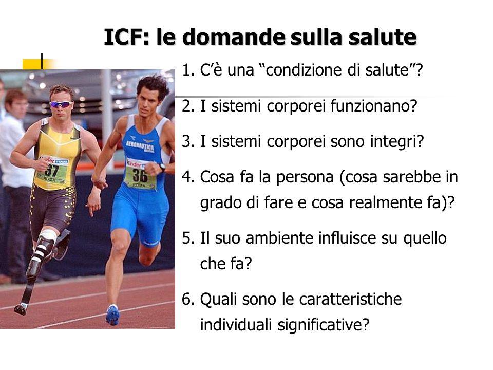 ICF: le domande sulla salute 1.C'è una condizione di salute .