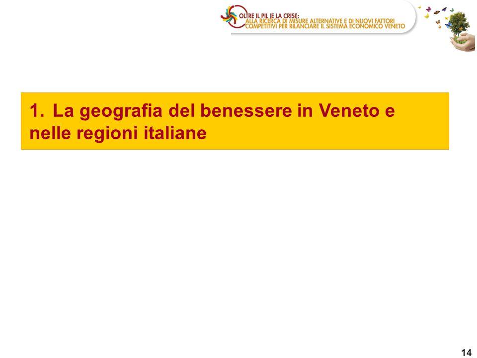 1.La geografia del benessere in Veneto e nelle regioni italiane 14