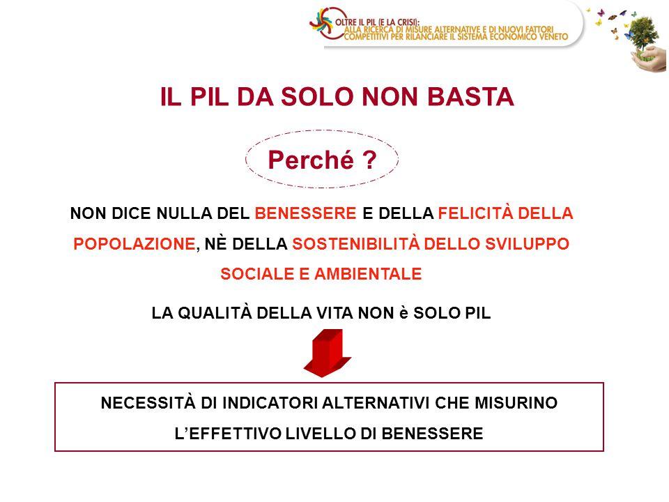 Ottobre 2009: Unioncamere del Veneto e CCIAA Venezia, in collaborazione con Regione Veneto e Università Ca' Foscari di Venezia danno avvio al progetto Oltre il Pil (e la crisi).
