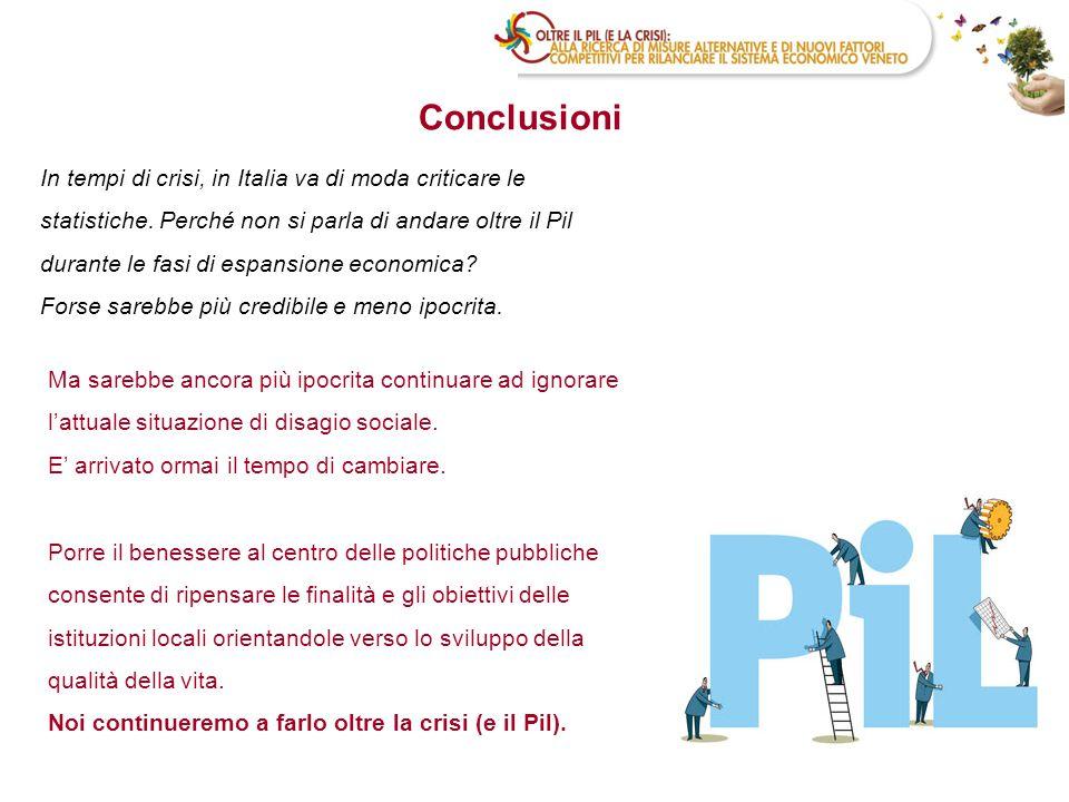 In tempi di crisi, in Italia va di moda criticare le statistiche. Perché non si parla di andare oltre il Pil durante le fasi di espansione economica?