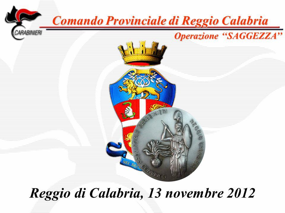 Comando Provinciale di Reggio Calabria Reggio di Calabria, 13 novembre 2012 Operazione ''SAGGEZZA''