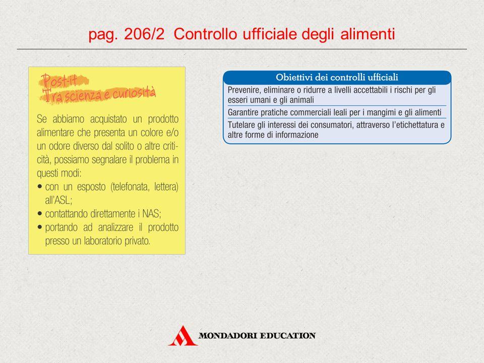 pag. 206/2 Controllo ufficiale degli alimenti