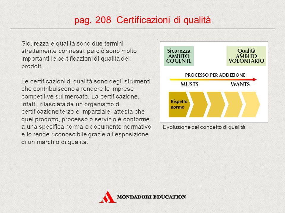 Sicurezza e qualità sono due termini strettamente connessi, perciò sono molto importanti le certificazioni di qualità dei prodotti. Le certificazioni