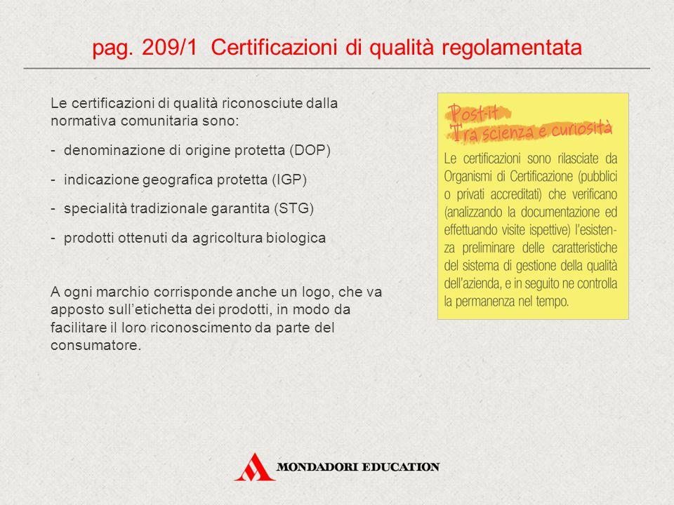 Le certificazioni di qualità riconosciute dalla normativa comunitaria sono: - denominazione di origine protetta (DOP) - indicazione geografica protett
