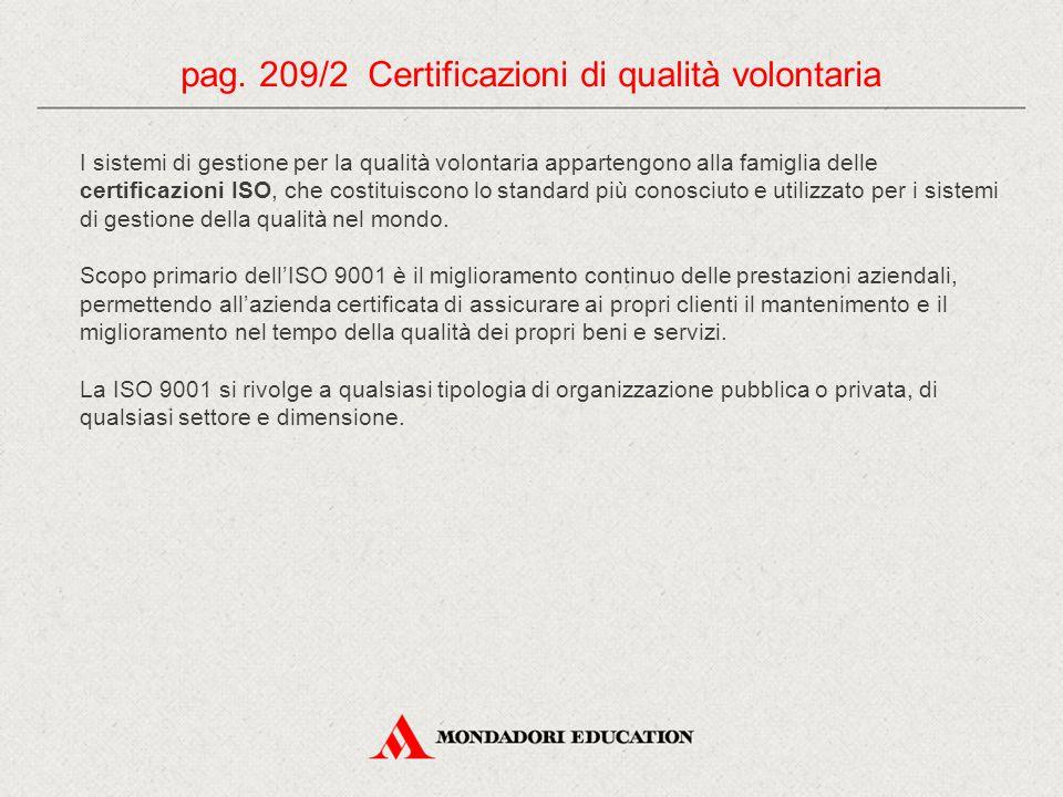 I sistemi di gestione per la qualità volontaria appartengono alla famiglia delle certificazioni ISO, che costituiscono lo standard più conosciuto e ut