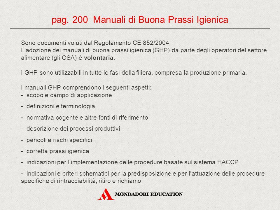 Sono documenti voluti dal Regolamento CE 852/2004. L'adozione dei manuali di buona prassi igienica (GHP) da parte degli operatori del settore alimenta