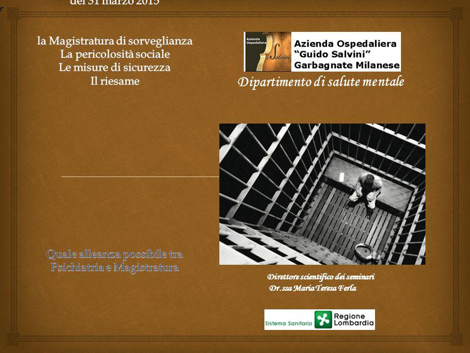  Tribunale di Sorveglianza Misure alternative al carcere Magistrato di Sorveglianza Detenuti I giudici preposti all'esecuzione della pena