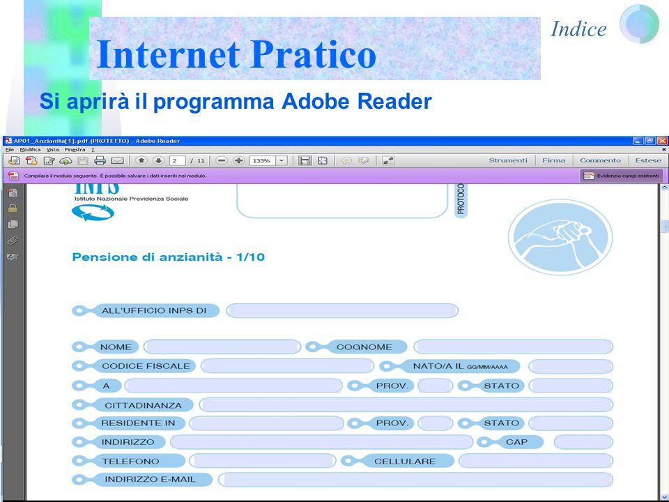 Indice Internet Pratico Si aprirà il programma Adobe Reader