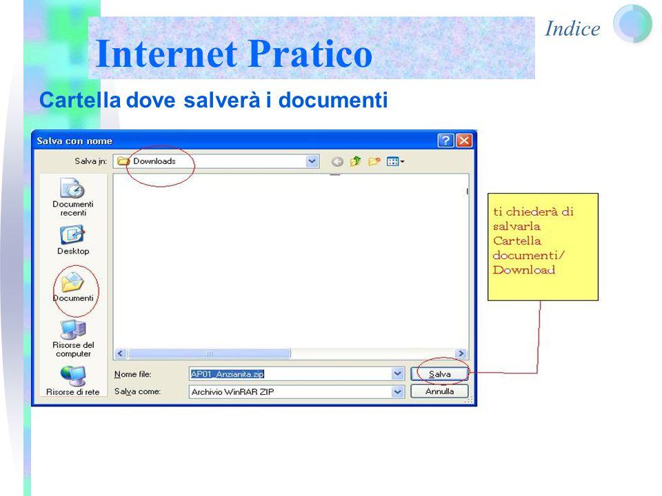 Indice Internet Pratico Cartella dove salverà i documenti